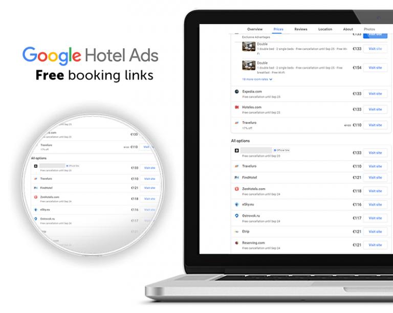 Google Hotel Ads e i Booking Link Gratuiti: come funzionano, come attivarli e come integrarsi con il Booking Engine
