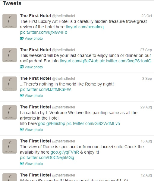 twitter first lux art hotel
