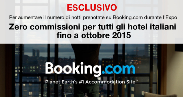 Booking.com commissioni zero hotel italia expo