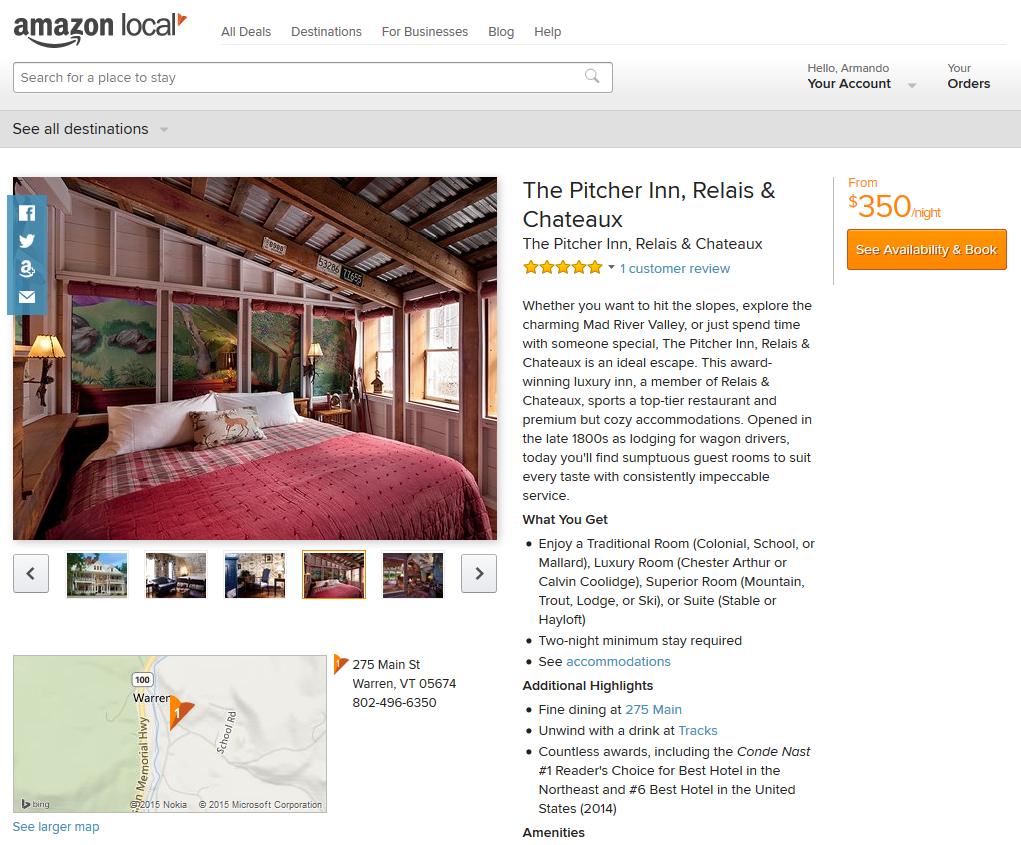 Amazon Destination Hotel Travel