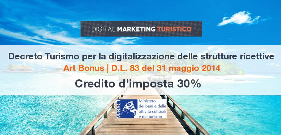 decreto turismo art bonus D.L. 83 del 31 maggio 2014