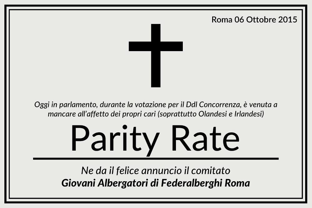 abolizione parity rate