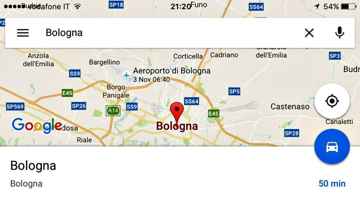 Google Maps, dopo che hai prenotato un aereo, ti visualizza sulla mappa a che ora devi essere in aeroporto il giorno di partenza