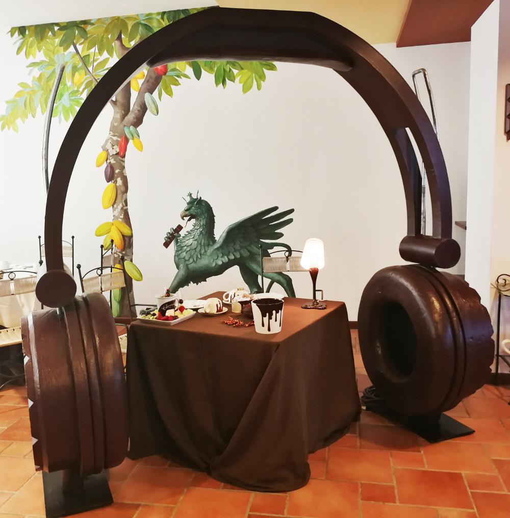 cuffie sala colazione Chocohotel